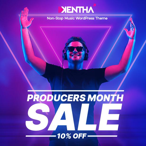 Kentha - سمة WordPress الموسيقية بدون توقف مع Ajax - 1