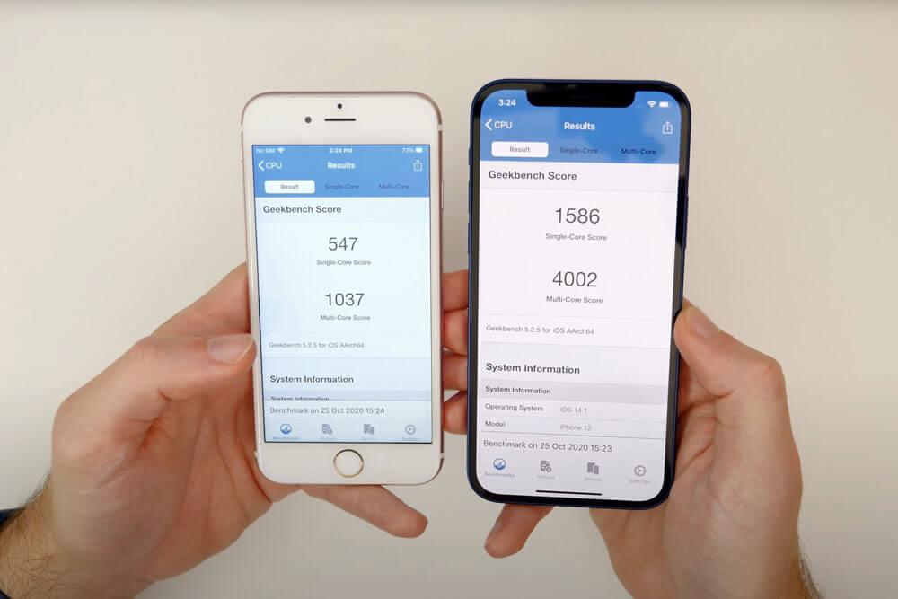 تحقق من الأداء الصعب لجهاز iPhone 6s
