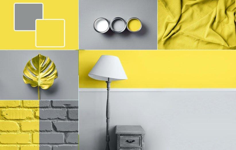 الاستخدام السليم لتركيبة اللون الأصفر والرمادي في تزيين المنزل