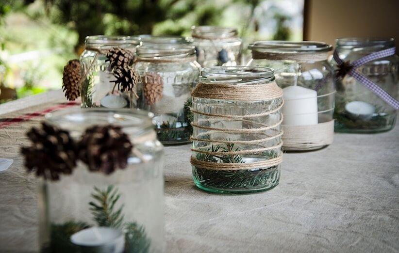 إعادة تدوير الزجاج - اصنع جرة بزجاج فارغ